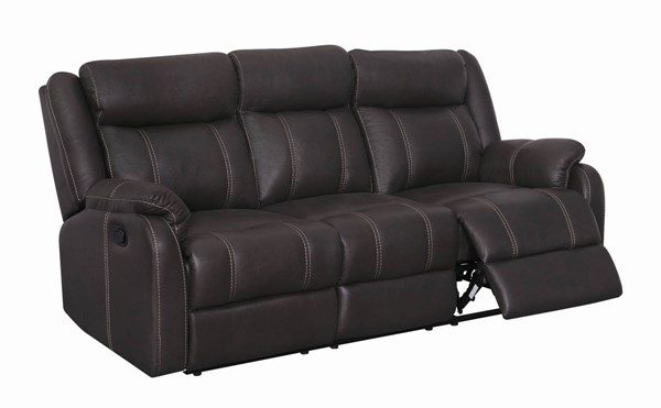 Gin Rummy Charcoal Printed Microfiber Reclining Sofa W/Dropdown Table GL-U7303C-RS-W-DDT-M