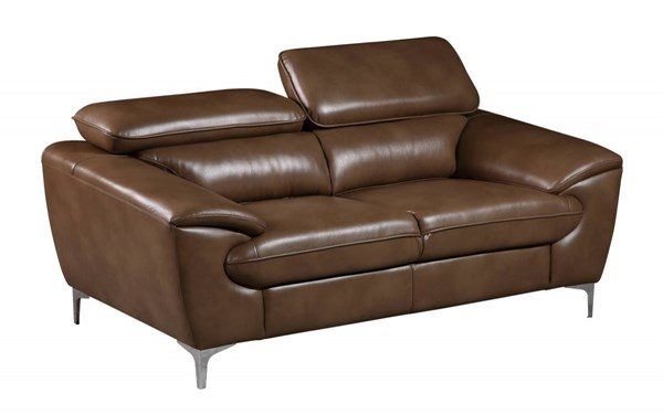 U7870 Series Blanche Walnut Leather Gel Loveseat GL-U7870-DTP672-B-L