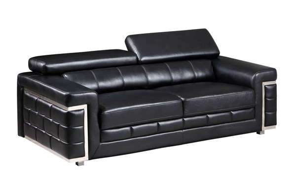 U7940 Series Blanche Black Leather Gel Sofa GL-U7940-DTP672-B-BL-S