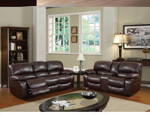 U8122 Series Burgundy Bonded Leather Living Room Set GL-U8122-2007-M-LR