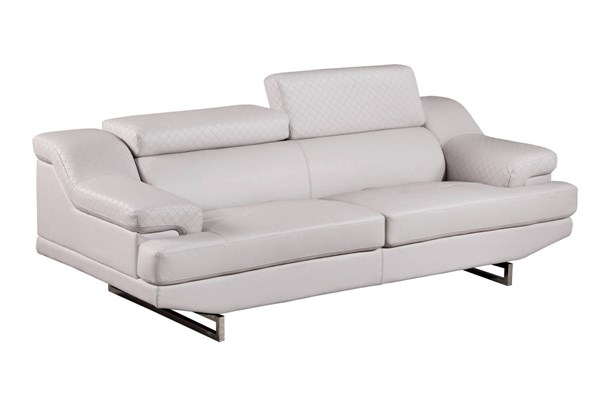 Global Furniture U8141 Natalie Light Grey Sofa GL-U8141-LT-GREY-S
