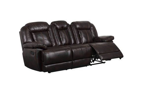 U8304 Series Brown Breatheable PU Reclining Sofa GL-U8304-R-S-M