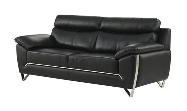 Global Furniture U8360 Black Leather Gel Sofa GL-U8360-BLANCHE-BLACK-S