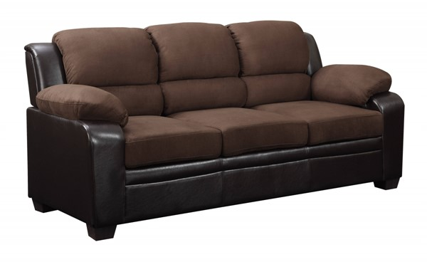 U880018KD Series Contemporary Chocolate Microfiber Sofa GL-U880018KD-MF-S-M
