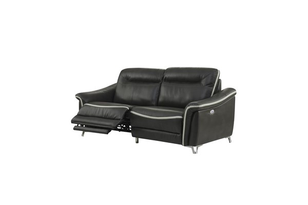 Global Furniture U9090 Light Grey Power Reclining Sofa GL-U9090-BLANCHE-LIVDITY-STEEL-PRS