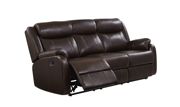 Global Furniture U9303C Reclining Sofa GL-U9303C-BR-R-S-W-CONTRAST-STITCHING-M-SP