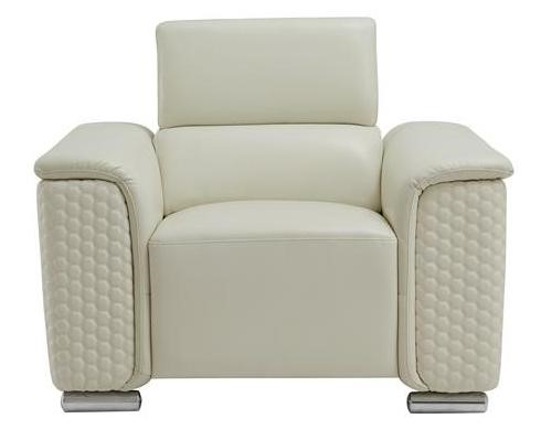 Global Furniture U9460 Blanche White Leather Gel Chair GL-U9460-BLANCHE-WHITE-CH