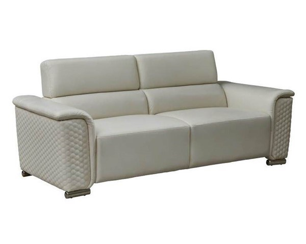 Global Furniture U9460 Blanche White Leather Gel Sofa GL-U9460-BLANCHE-WHITE-S