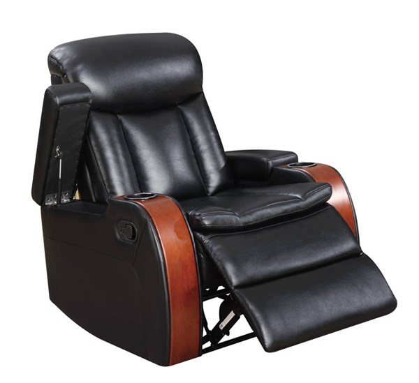 U9673 Series Blanche Black Leather Gel Recliner GL-U9673-RECLINER-M