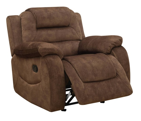 U97370 Series Chocolate Fabric Glider Recliner GL-U97370-D097-GR-M
