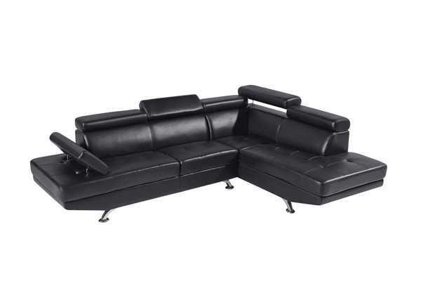 Global Furniture U9782N Black 2pc Sectional GL-U9782N-BL-SECTIONAL-M