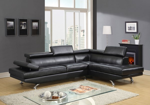 U9782 Series Black Red White PU Sectional GL-U9782-SEC-VAR