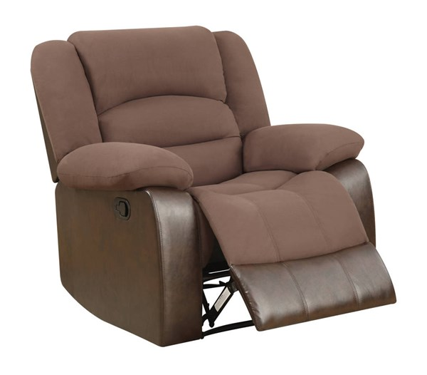 U98243 Series Chocolate Microfiber Recliner GL-U98243-D128-CHOCOLATE-PU-R-M