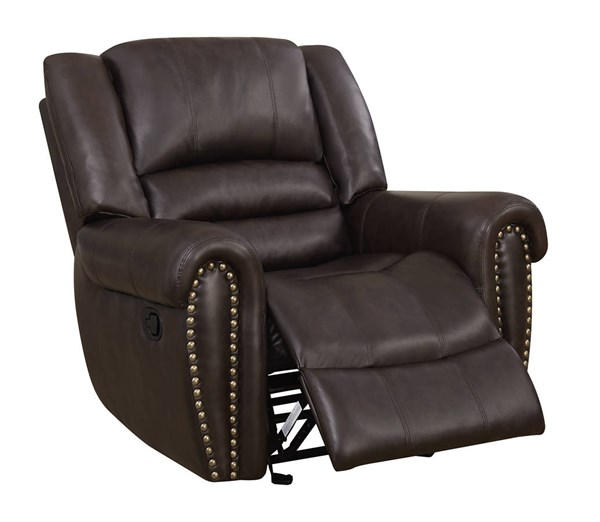 U98782 Series Brown PU Glider Recliner GL-U98782-QPU080-GR-M