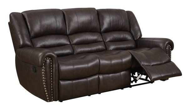 U98782 Series Brown PU Reclining Sofa GL-U98782-QPU080-RS-M