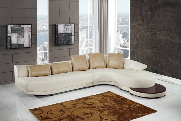 Global Furniture UFM208 Sectional with End Table GL-UFM208-SECTIONAL-ET