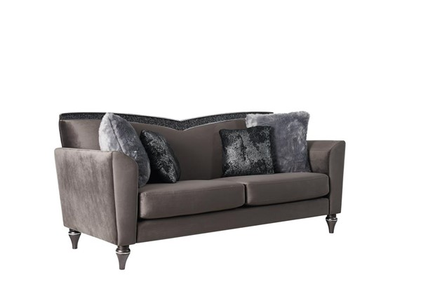 Global Furniture UFM801 Dark Grey Velvet 3pc Living Room Set GL-UFM801-DGR-VLVT-CC68-LRS1