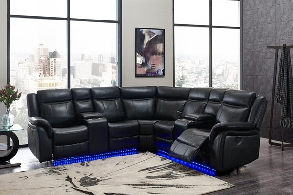 Global Furniture UM02 Blanche Black Sectional GL-UM02-BL-SECTIONAL