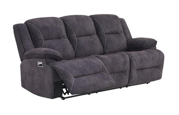 Global Furniture UM08 Dark Grey Velvet Reclining Sofa GL-UM08-SL70110-2-DRK-GRY-RS