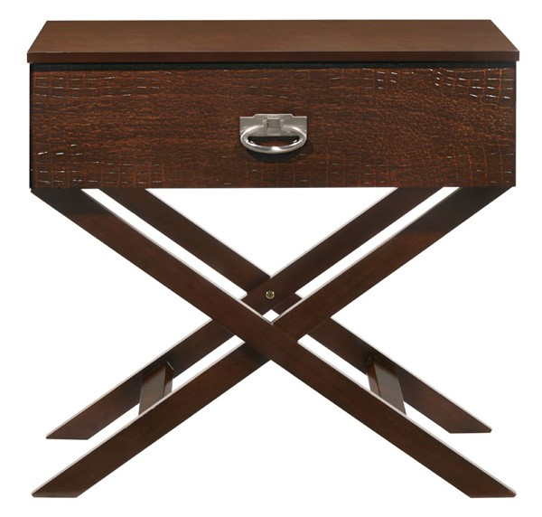 Glory Furniture Xavier Contemporary Cappuccino Nightstand GLRY-G0075-N