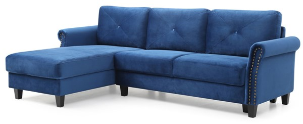 Glory Furniture Riverside Navy Blue Fabric Sectional GLRY-G0171B-SC