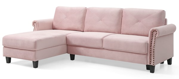 Glory Furniture Riverside Pink Sectional GLRY-G0173B-SC