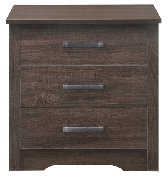 Glory Furniture Hudson Contemporary Wenge 3 Drawer Nightstand GLRY-G028-N