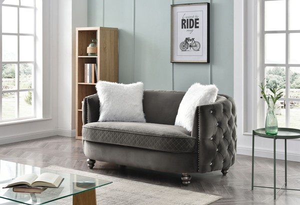 Glory Furniture Apollo Gray Green Loveseats GLRY-G0332A-LS-VAR