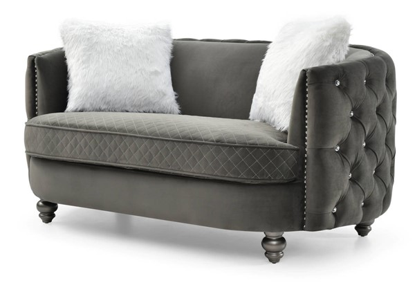 Glory Furniture Apollo Gray Velvet Loveseat GLRY-G0332A-L