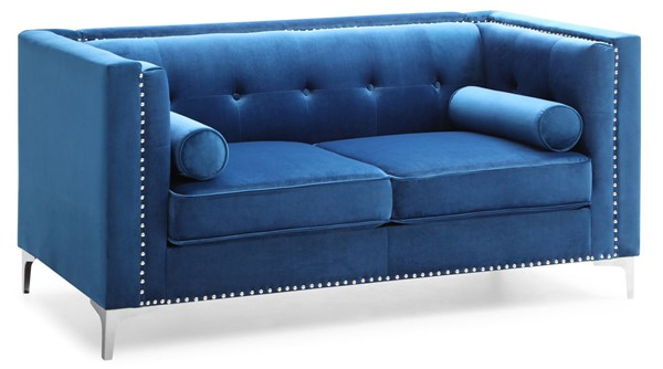 Glory Furniture Capua Navy Blue Loveseat GLRY-G0341A-L