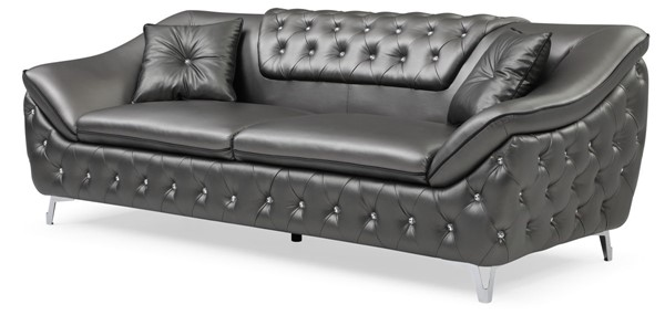 Glory Furniture Bailey Metallic Silver Faux Leather Sofa GLRY-G0360A-S