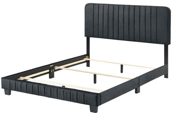 Glory Furniture Lodi Black Velvet Queen Bed GLRY-G0407-QB-UP