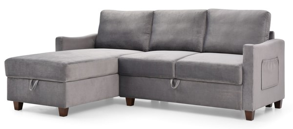 Glory Furniture Monica Gray Sectional With Storage GLRY-G0420B-SC