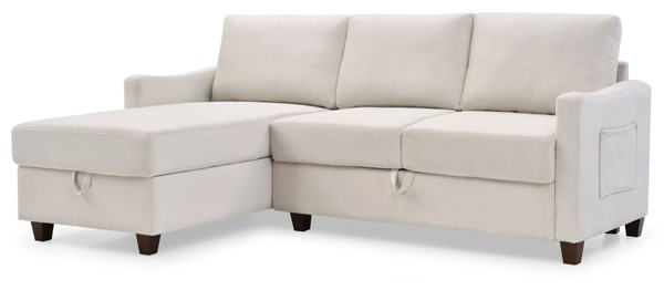 Glory Furniture Monica Beige Sectional With Storage GLRY-G0425B-SC