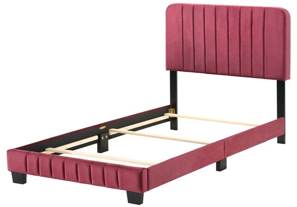 Glory Furniture Lodi Cherry Velvet Twin Bed GLRY-G0503-TB-UP