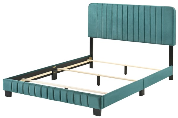 Glory Furniture Lodi Green Velvet Queen Bed GLRY-G0505-QB-UP