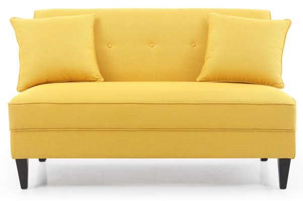 Glory Furniture Merril Yellow Fabric Sofa GLRY-G051-S