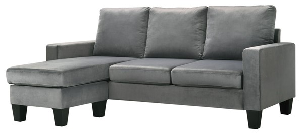 Glory Furniture Jessica Gray Sofa Chaise GLRY-G0511-SCH