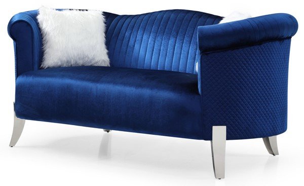 Glory Furniture Vine Blue Loveseat GLRY-G0611A-L