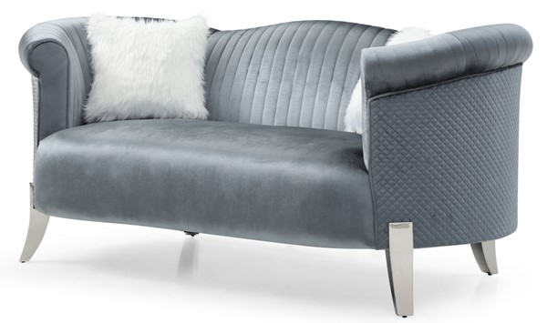 Glory Furniture Vine Gray Velvet Loveseat GLRY-G0612A-L