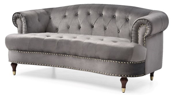 Glory Furniture Beverly Dark Gray Fabric Loveseat GLRY-G0652A-L
