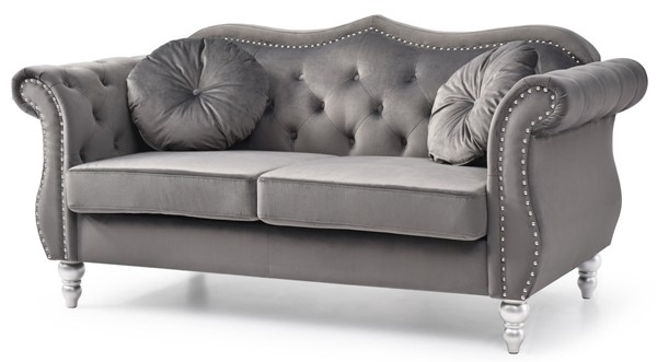 Glory Furniture Hollywood Dark Gray Loveseat GLRY-G0660A-L