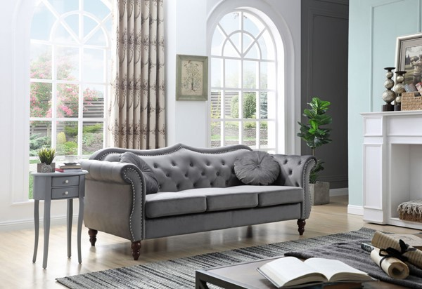 Glory Furniture Hollywood Dark Gray Navy Blue Sofa GLRY-G0660A-SF-VAR
