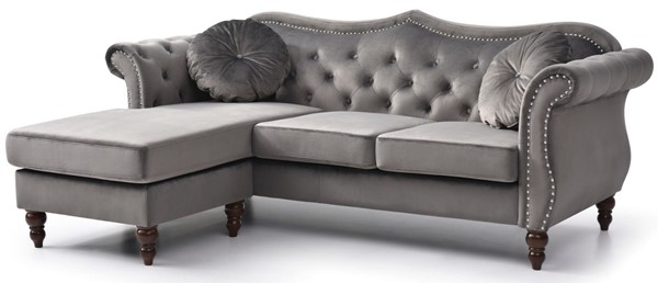 Glory Furniture Hollywood Dark Gray Sectional GLRY-G0660B-SC