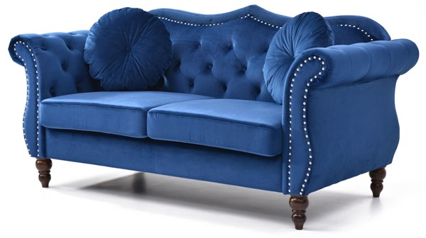 Glory Furniture Hollywood Navy Blue Loveseat GLRY-G0661A-L