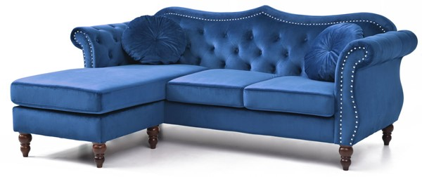 Glory Furniture Hollywood Navy Blue Sectional GLRY-G0661B-SC