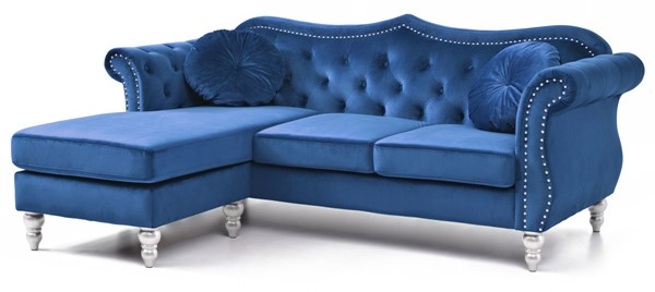 Glory Furniture Hollywood Navy Blue Sofa Chaise GLRY-G0661B-SC