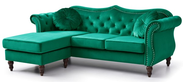Glory Furniture Hollywood Green Sectional GLRY-G0662B-SC
