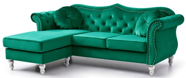 Glory Furniture Hollywood Green Sofa Chaise GLRY-G0662B-SC