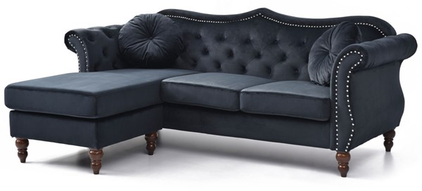 Glory Furniture Hollywood Black Sectional GLRY-G0663B-SC